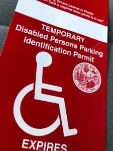 Temporary Disabled Parking Permit